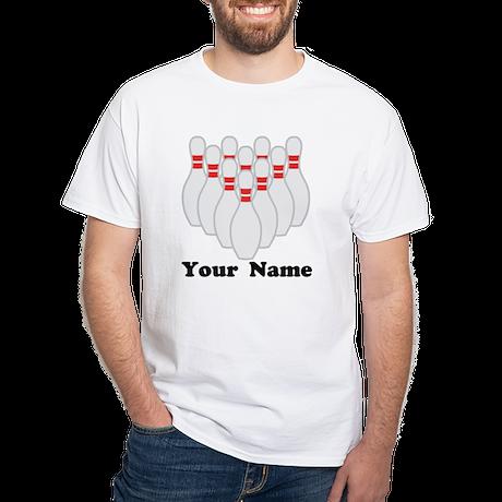 Personalized Bowling White T-Shirt