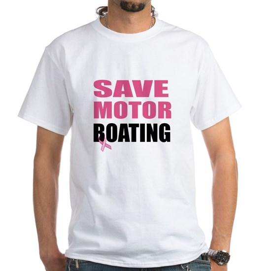 Save Motor Boating Funny Breast Cancer Awareness