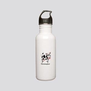Cow Just Add Name Stainless Steel Water Bottle
