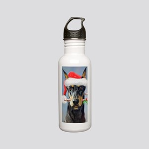 Doberman Christmas Stainless Water Bottle 0.6L