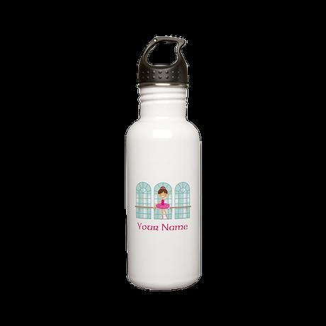Customized Pink Ballerina Stainless Water Bottle 0