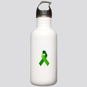 Green Ribbon Stainless Water Bottle 1.0L