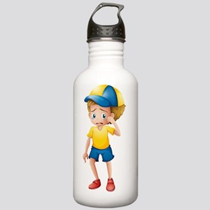 A young boy sobbing Stainless Water Bottle 1.0L