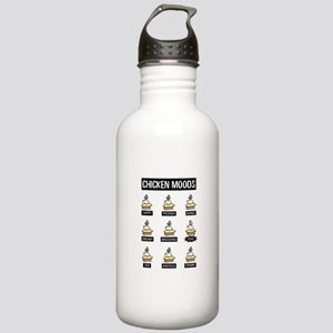Chicken Moods Stainless Water Bottle 1.0L