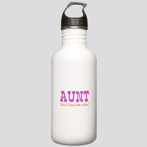 Aunt Like a Mom but Cooler Stainless Water Bottle