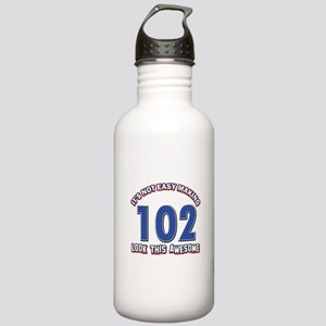 102 year old birthday designs Stainless Water Bott