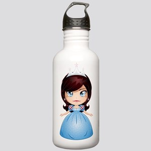 Princess With Black Ha Stainless Water Bottle 1.0L