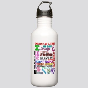 12 STEP SLOGANS IN COL Stainless Water Bottle 1.0L