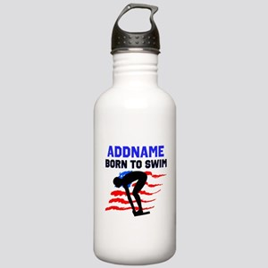 BORN TO SWIM Stainless Water Bottle 1.0L
