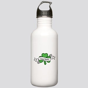 Shamrock CUSTOM TEXT Water Bottle