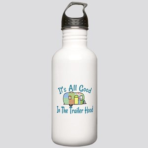 All Good In The Trailer Hood Water Bottle