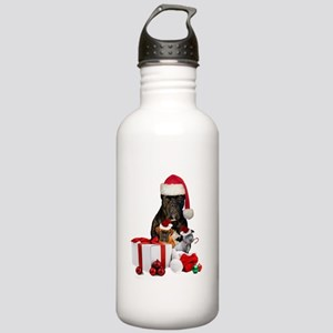 Christmas Cane Corso Water Bottle