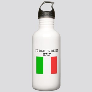 Id Rather Be In Italy Water Bottle