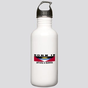 Born In Antigua and Barbuda Stainless Water Bottle