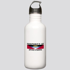 Property Of Antigua and Barbuda Stainless Water Bo