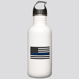 Thin Blue Line Decal - Stainless Water Bottle 1.0L