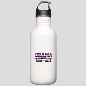 Obama Back to Back Victory Stainless Water Bottle