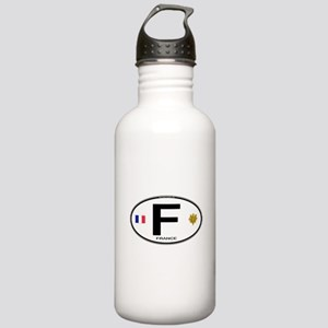 France Euro Oval Stainless Water Bottle 1.0L