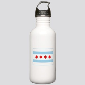 City of Chicago Flag Stainless Water Bottle 1.0L