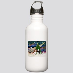 XmasMagic/2 Cavaliers Stainless Water Bottle 1.0L