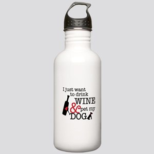 Wine and Dog Stainless Water Bottle 1.0L