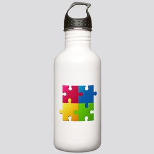 Autism Awareness Puzzl Stainless Water Bottle 1.0L