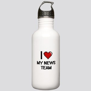 I Love My News Team Stainless Water Bottle 1.0L