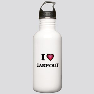 I love Takeout Stainless Water Bottle 1.0L