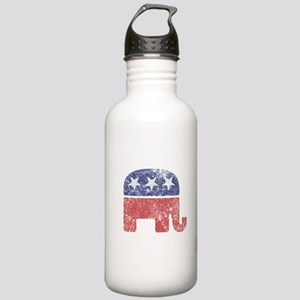 Worn Republican Elephant Stainless Water Bottle 1.