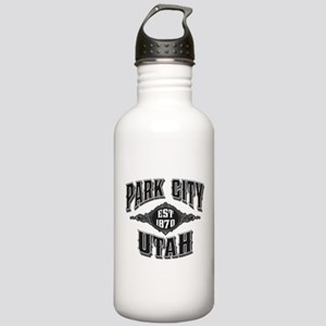 Park City Black Silver Stainless Water Bottle 1.0L