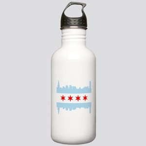 Chicago Flag Skyline Water Bottle