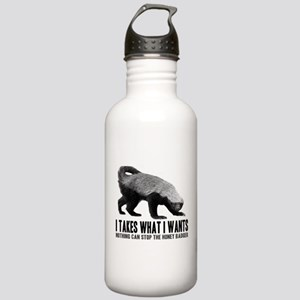Honey Badger Speaks Stainless Water Bottle 1.0L