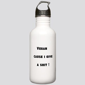 Vegan Cause I Give a Shit Water Bottle