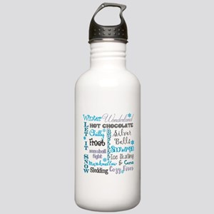 Winter Subway Art Water Bottle