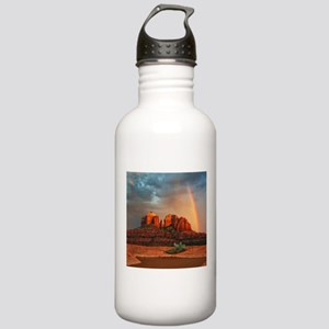 Rainbow In Grand Canyon Sports Water Bottle