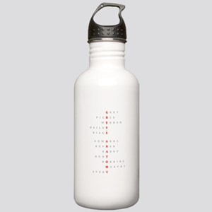 Grey's Horizontal Char Stainless Water Bottle 1.0L