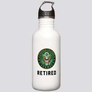 US Army Retired Stainless Water Bottle 1.0L