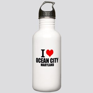 I Love Ocean City, Maryland Water Bottle