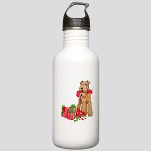 Airedale Terrier Christmas Stainless Water Bottle