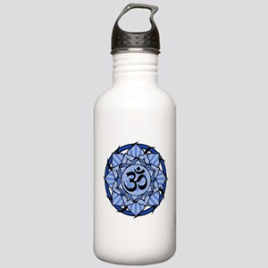 Aum Lotus Mandala (Blue) Stainless Water Bottle 1.