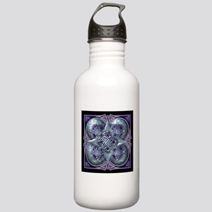 Silver & Purple Celtic Tapestry Stainless Water Bo