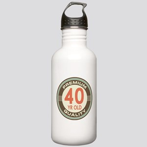 40th Birthday Vintage Stainless Water Bottle 1.0L