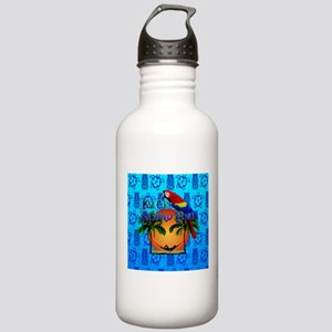 Island Time Tiki Water Bottle