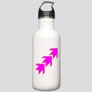 Pink Arrows Water Bottle