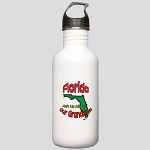 Florida Grandparent Motto Stainless Water Bottle 1