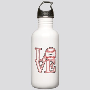 Perpsonalized Love Softball Stainless Water Bottle