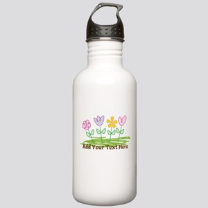 Custom Cute Flowers Water Bottle