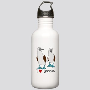 I Heart Boobies Stainless Water Bottle 1.0L