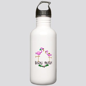 Dancing Pink Flamingos Stainless Water Bottle 1.0L