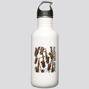 Saxophone Player Music Stainless Water Bottle 1.0L